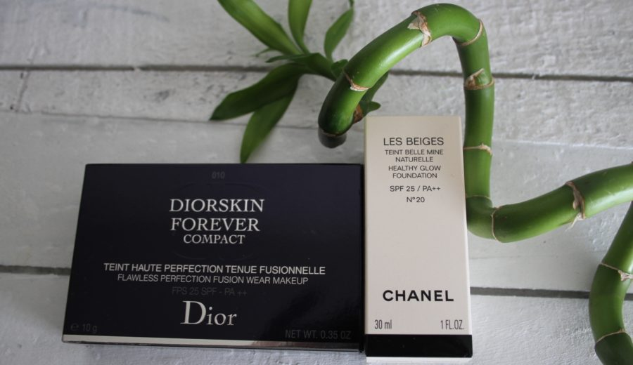 "Chanel ""Les Beiges"" foundation & Dior "" Diorskin Forever Compact"" foundation"