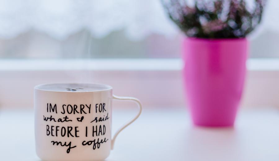 Koffie verslaafd